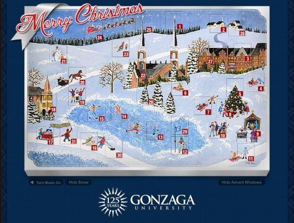 » Gonzaga's award-winning Advent calendar is back!
