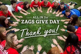 Zags Give Day Thank You