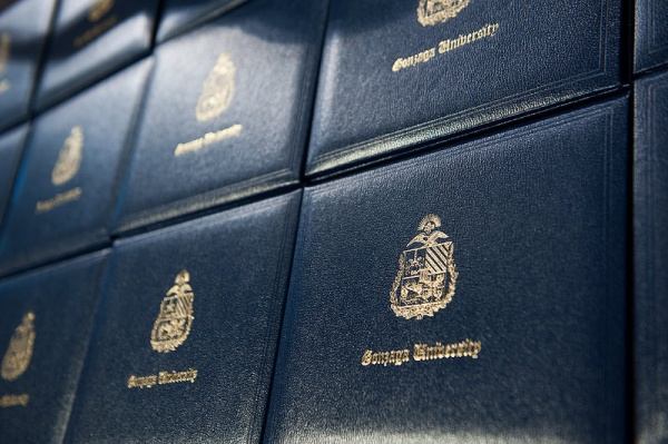 PHOTO OF THE DAY: Diplomas ready for Commencement. (Photo by Gonzaga University)