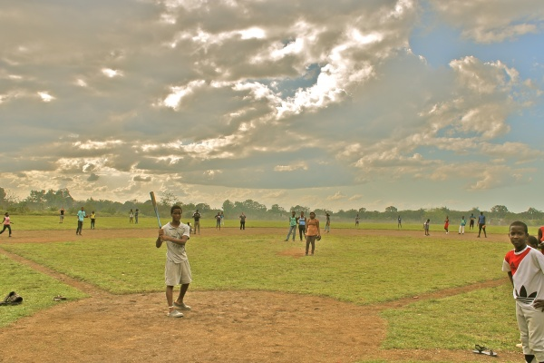 The Town Of Altagracia And Mission Possible Playing A Game Of Baseball On Day 1