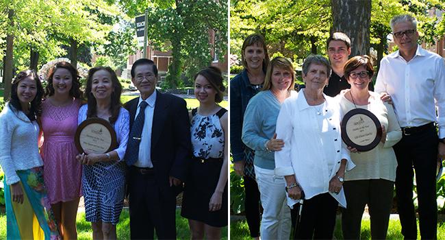 Left: Chau Family; Right: Vill-Olson Family