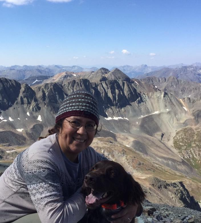 At the top of a 14er