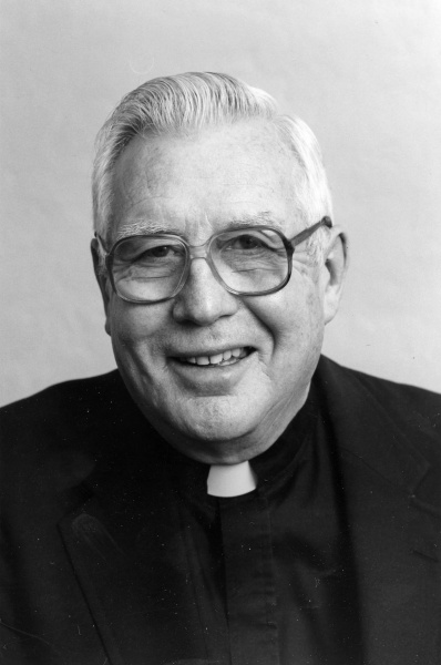 Fr. Costello was at peace – with himself, his jobs, and his associates. His demeanor reflected that peace – a sunshine wink, a suppressed grin, and the repose of a front porch rocking chair.