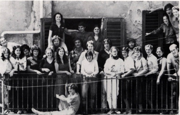 A group of 1981 GIFers at Pensione Casci