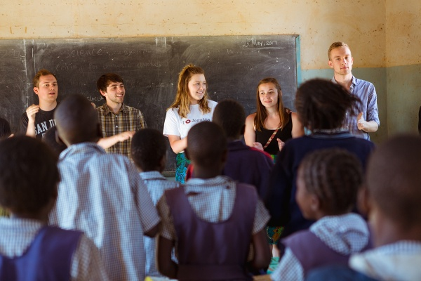 GU Choir members in Africa