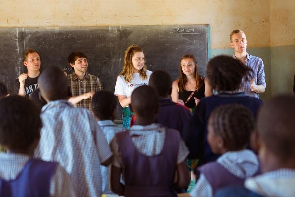 GU Choir members in Africa